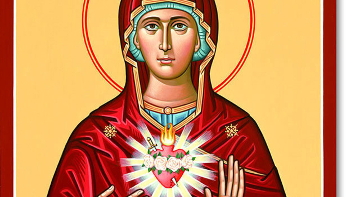 Immaculate Heart Original Icon 20 Tall Pm549